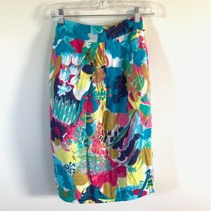 J. CREW seaside floral pencil skirt NWT size 4